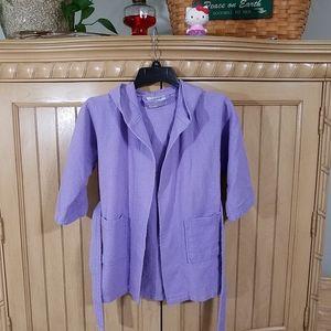 Chakir Lilac Linen Robe, Small Child's sz S/M
